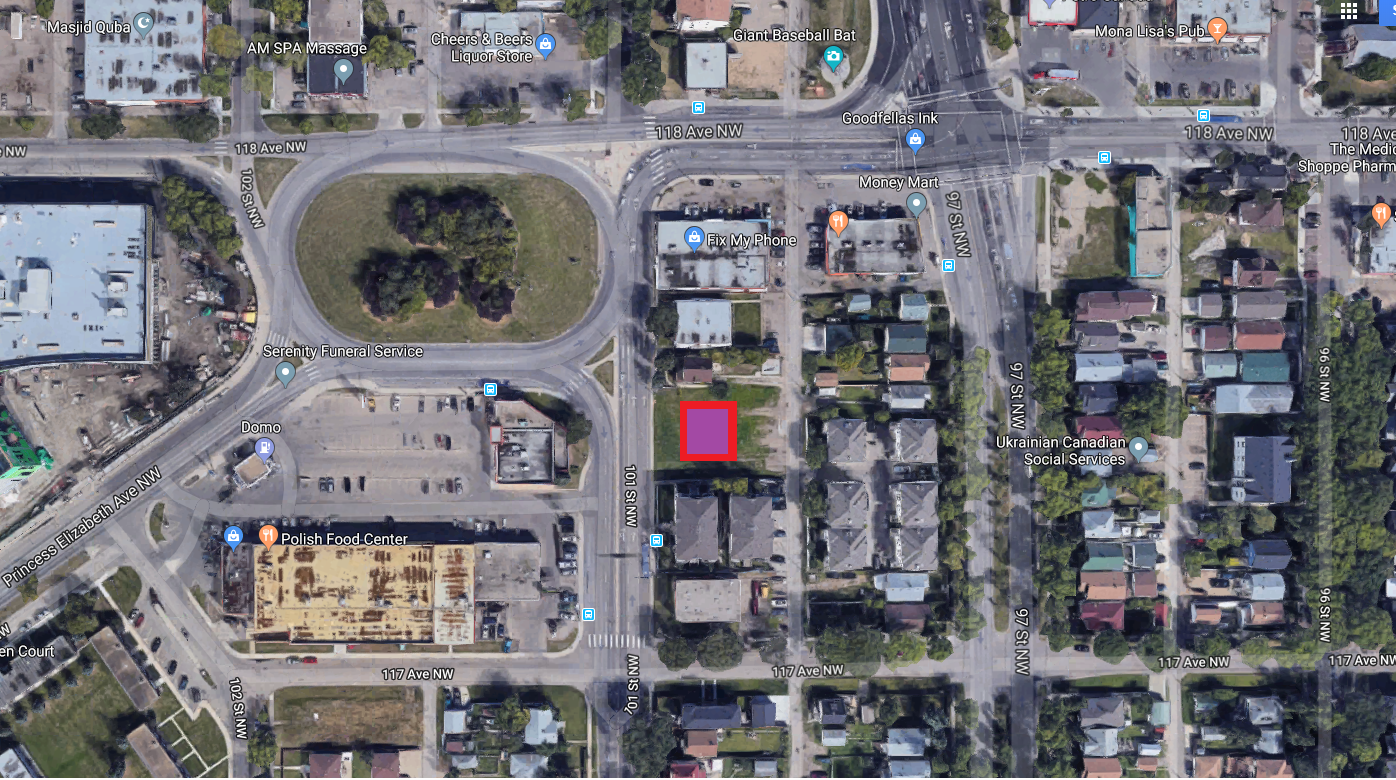 Trinity Manor  Located at 11723 101 Street, Edmonton AB.  4 Storeys condo building.