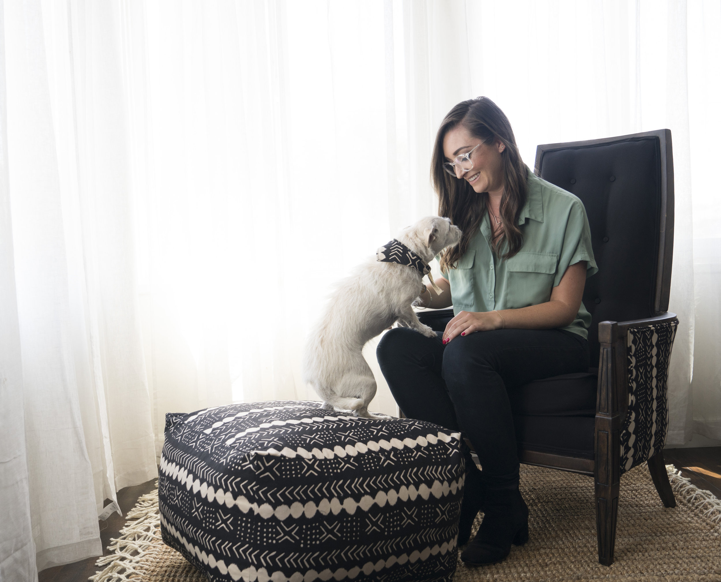 Pebbles armchair and Pebbles pouf