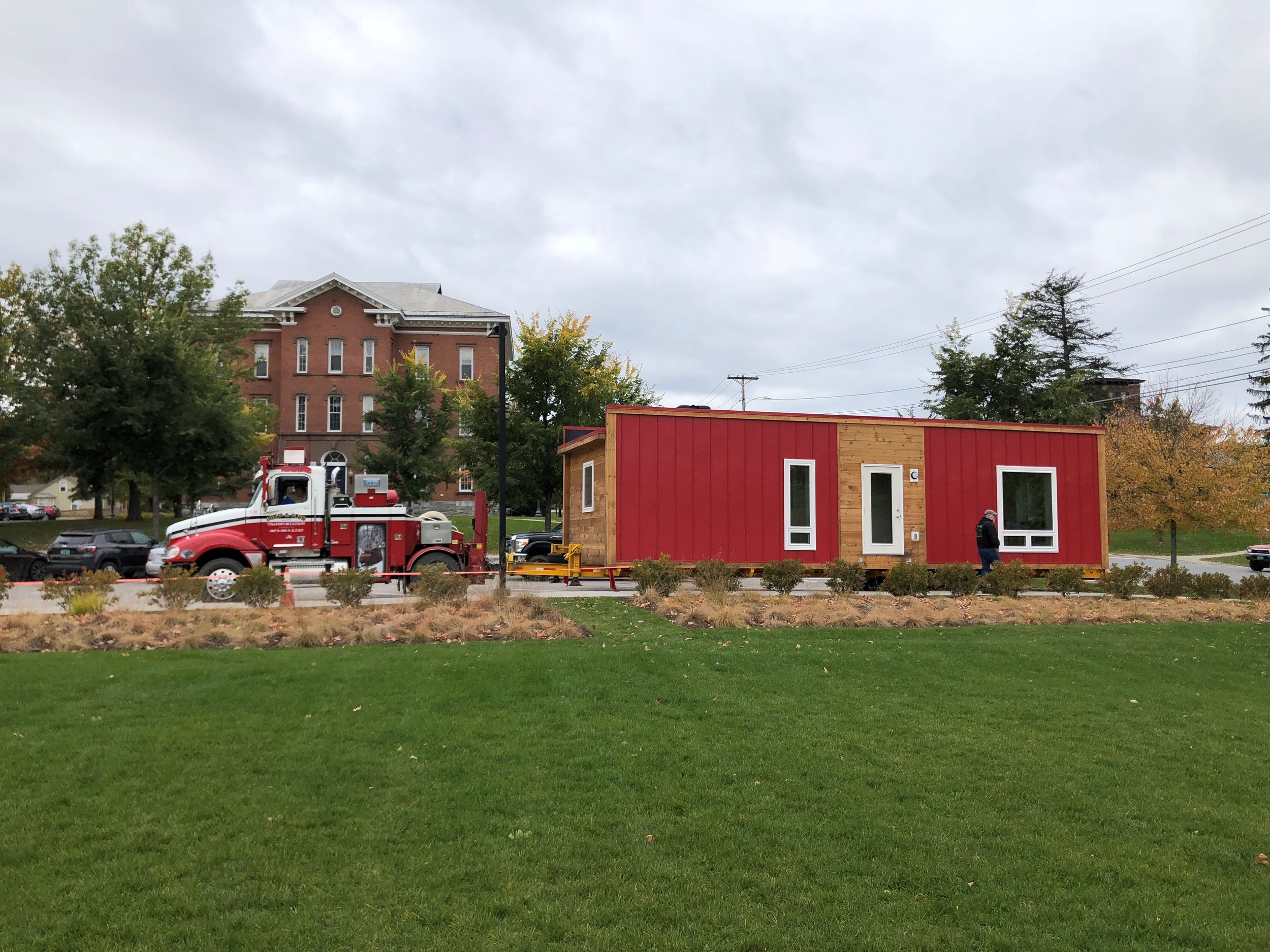 Vermont Energy Investment Corporation takes one of its zero-energy modular (ZEM) homes on the road.