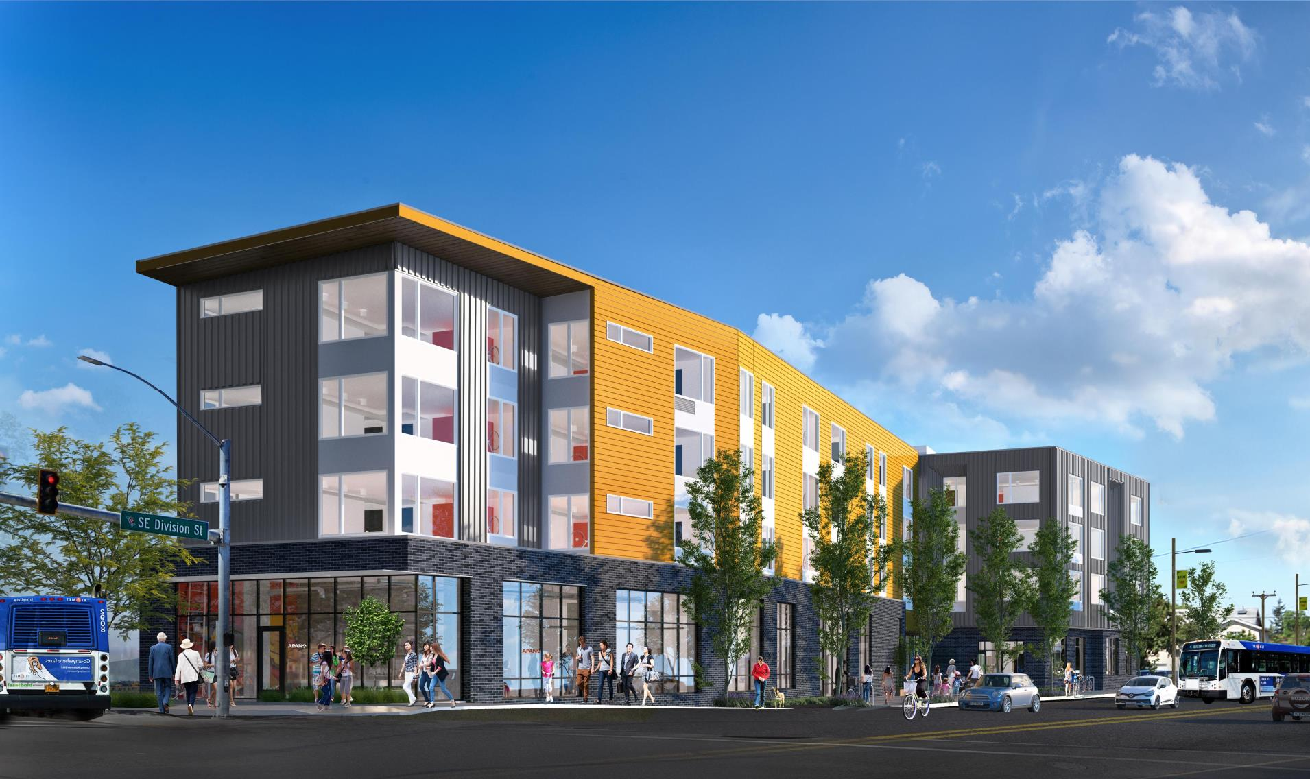 Rendering of Orchards of 82nd by SERA Architecture.