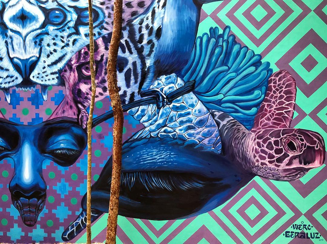 WERC AND GERALUZ - Mural at the Jungle Art Walk