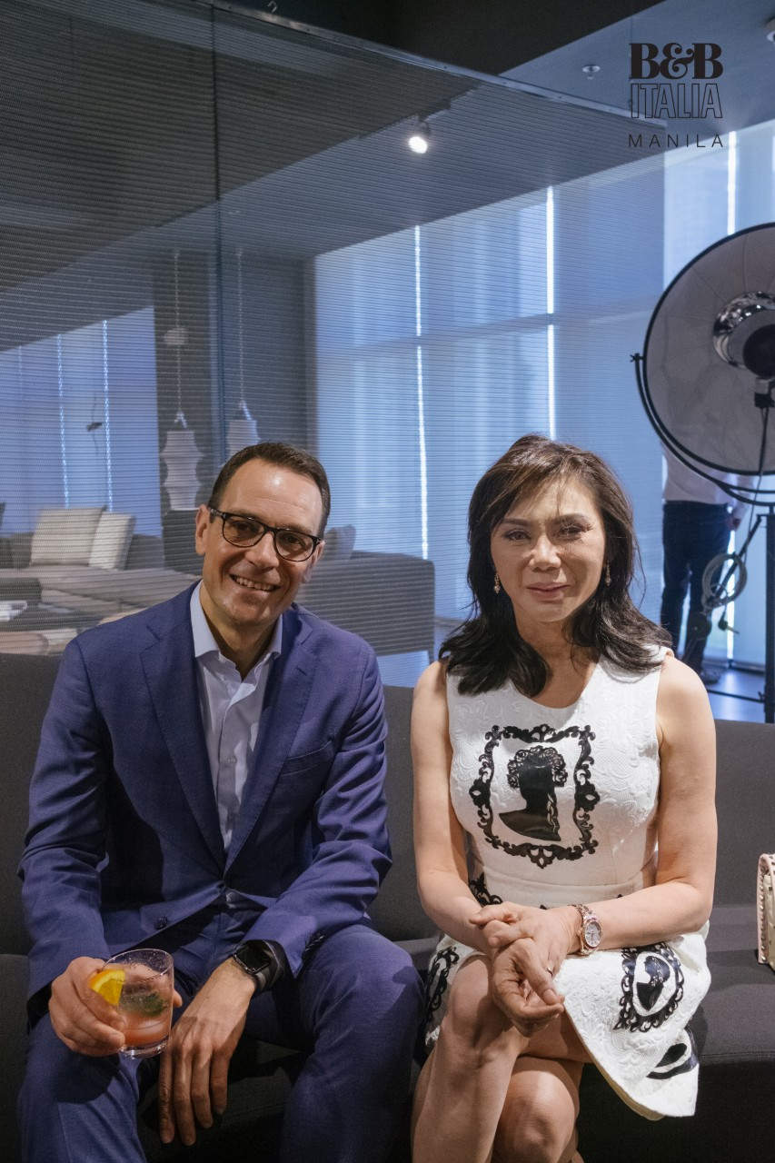 B&B Italia General Manager for APAC, Paolo Bottegal, with Dr. Vicki Belo