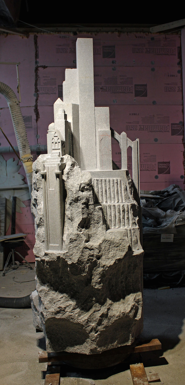 Granite Public Sculpture for Barre, Vermont