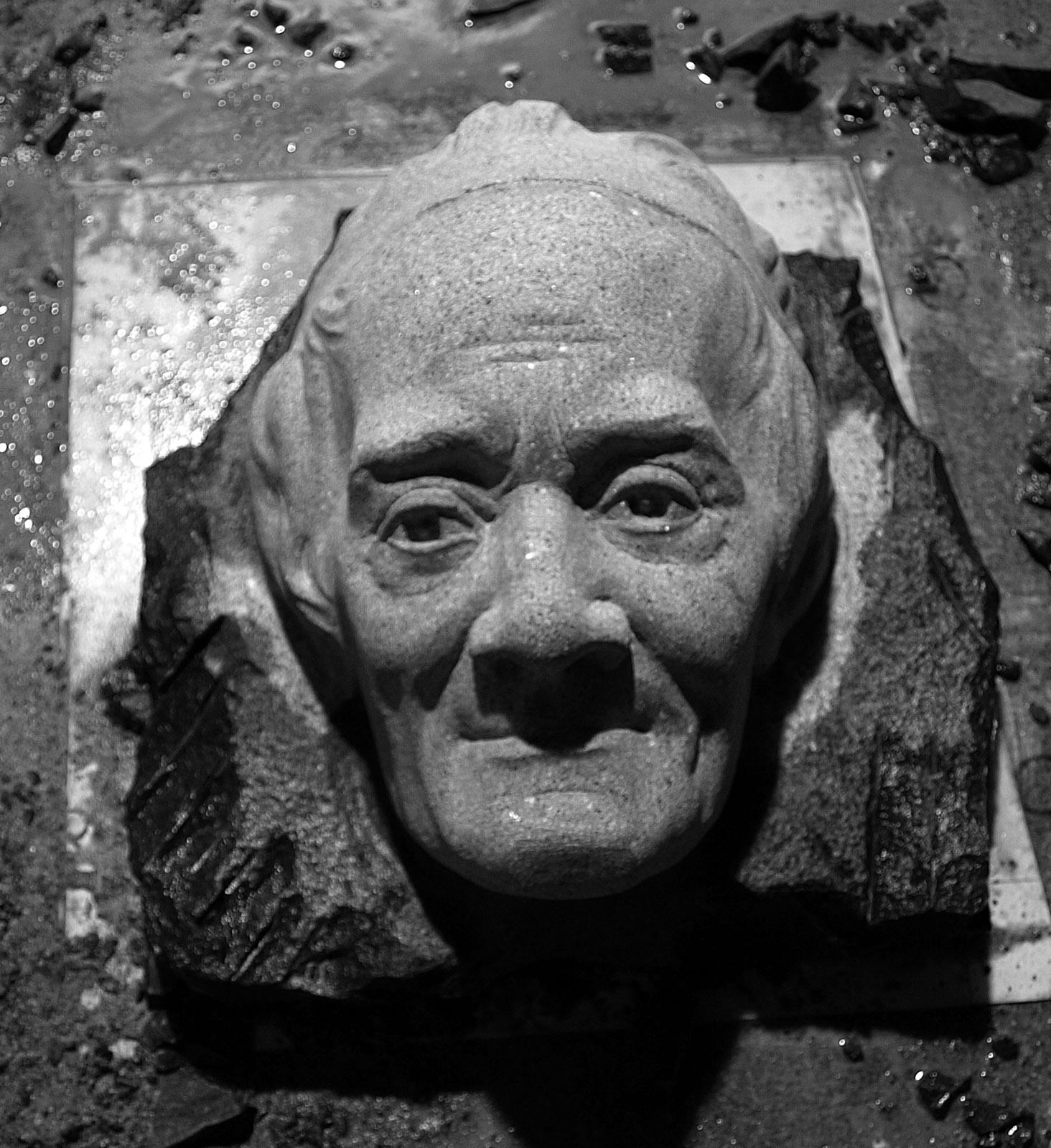 Voltaire Carving Houdon Copy