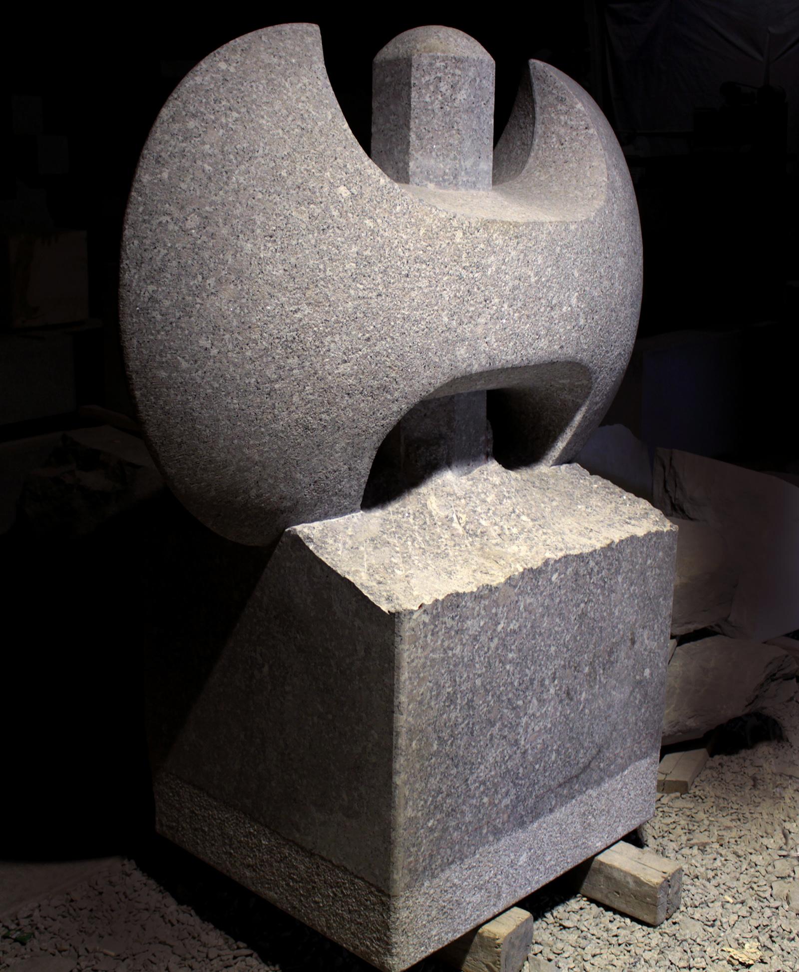 Granite Labrys Sculpture