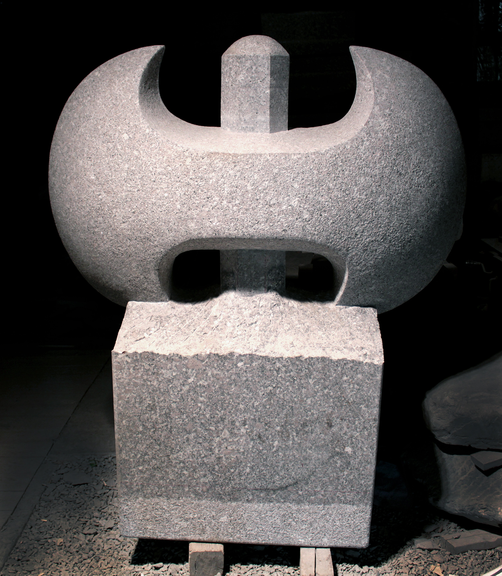 Granite Labrys Sculpture