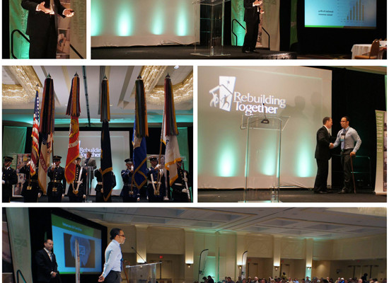MARCH was honored today to have company president, Tom Aiello, speak at the Rebuilding Together National Conference about veteran housing. Honored to have wounded warrior and American hero, Sergeant Johnny Agbi on hand for the event.