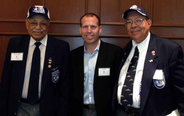 MARCH Marketing's team was honored today to meet 2 of the original Tuskegee Airman. At the Volunteers of America Veterans Leadership Luncheon today in Chicago.