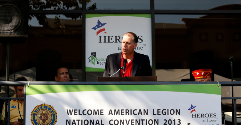 MARCH marketing president Tom Aiello speaks at the 2013 American Legion National Convention MARCH Marketing was proud to help Rebuilding Together kick off American Legion Convention in Houston today! We renovated a Veterans Shelter that's home to 100 veterans ages 27-85. Today's project is making a big difference in the lives of many deserving veterans!