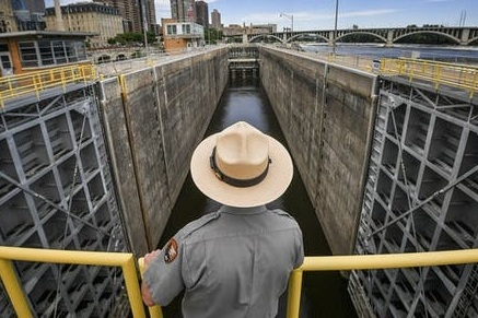 Closing the St. Anthony Dam will protect the river upstream from invasive carp. Photo courtesy of Star Tribune.