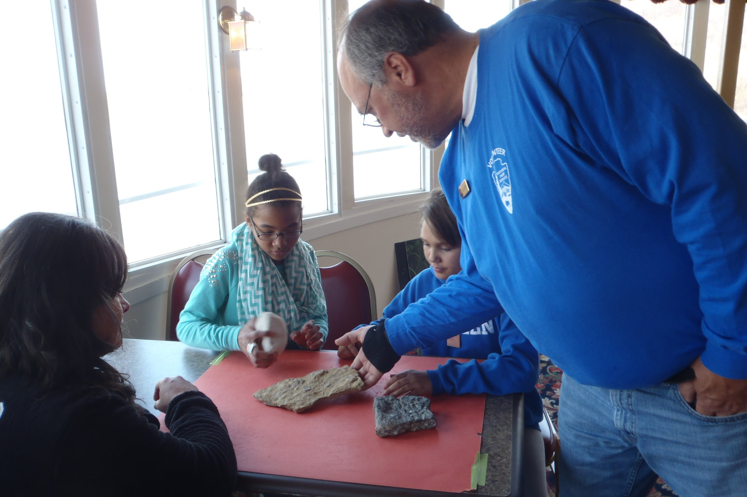 Geology Station - Assist a park ranger with the presentation of the