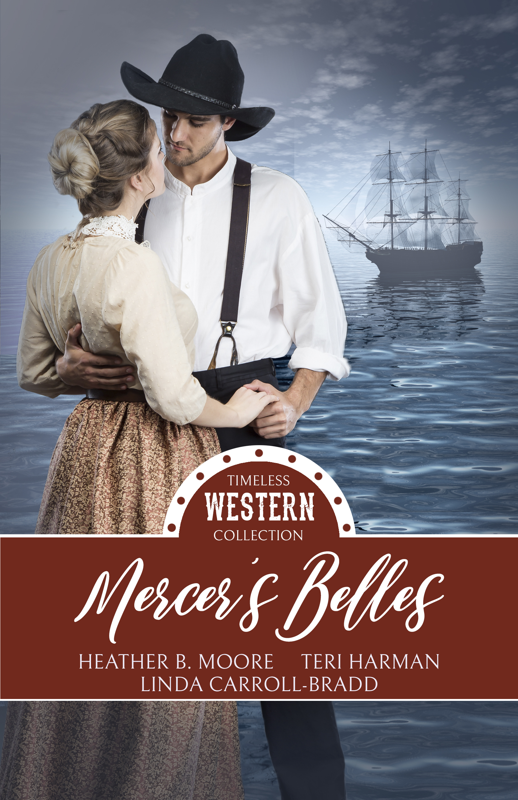 Mercer's Belles  - When Mr. Mercer sends out a call for single women to travel to Seattle for teaching positions and the potential of forming marriages, 45 answer his call, becoming Mercer's Belles.The following collection is based on based on true events during the 1860s: ONE DANCE by Heather B. Moore:When Harriet Silverman arrives in Seattle for a fresh start and a new teaching position, the last person she expects is to meet is a fisherman who seems to be every place she turns. As she gets to know Caleb Munns, Harriet discovers they are a perfect match--for friendship. They both have solid reasons for not pursuing marriage. But as their paths continue to cross, Harriet begins to see a completely different future than she imagined.A JOURNEY TO LOVE by Teri Harman:Cora, a nurse and surgeon's assistant who learned her skills during the war, joins Mercer's expedition in hopes of finding a job in the West. She's a widow and does not want to marry again. When she meets Albert, a surgeon who is traveling on board the Continental, she finds herself intrigued. Yet, Albert's determined to open his own practice in Seattle, make it a success, and has no plans to look for a wife. But the more time Cora and Albert spend together on the voyage, the more they are drawn to each other.A FARAWAY LIFE by Linda Carroll-Bradd:Teacher Sorcha Geraghty yearns for a fresh start after the death of her beau and a factory accident maimed her hand. Asa Mercer's call for teachers for Washington Territory provides a new opportunity, and she joins his ocean-going expedition. Upon arrival, she learns of the expectation for the women to become wives to the many bachelors. Sorcha needs a new plan and fast. Logging manager Lang Ingemar wants a teacher to provide basic English instruction to his Swedish-speaking crew and keep them out of trouble when they go to Seattle. When he convinces Miss Geraghty to relocate to the logging camp, he has no idea the ways his life will be changed.