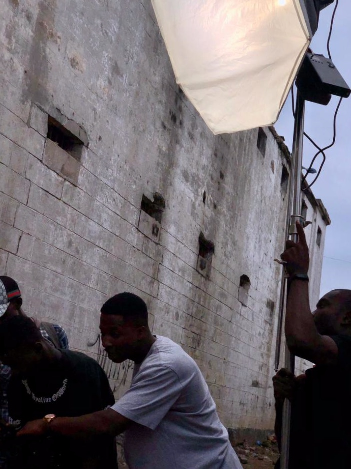 Henry and his creative group on the set of a video shoot