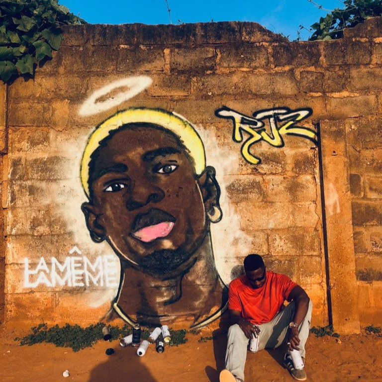 Graffiti mural of RJZ by Henry Akrong