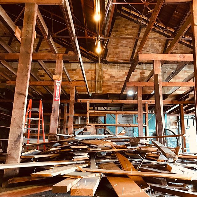 We are hard at work over here @campsitebrewingco 💪🏻🔨 This week we are removing the mezzanine giving us a clear view of our beautiful high ceilings and packing house architecture. . . . . .  #campsitebrewingco #arcitecture #packinghouse #camping #campfire #craftbeer #brewery #beergeek #drinklocal #covina #CAbeer #campsite #brewpub #hops #beer #adventure #hike #outdoors #tent #explore #independentbeer #socal