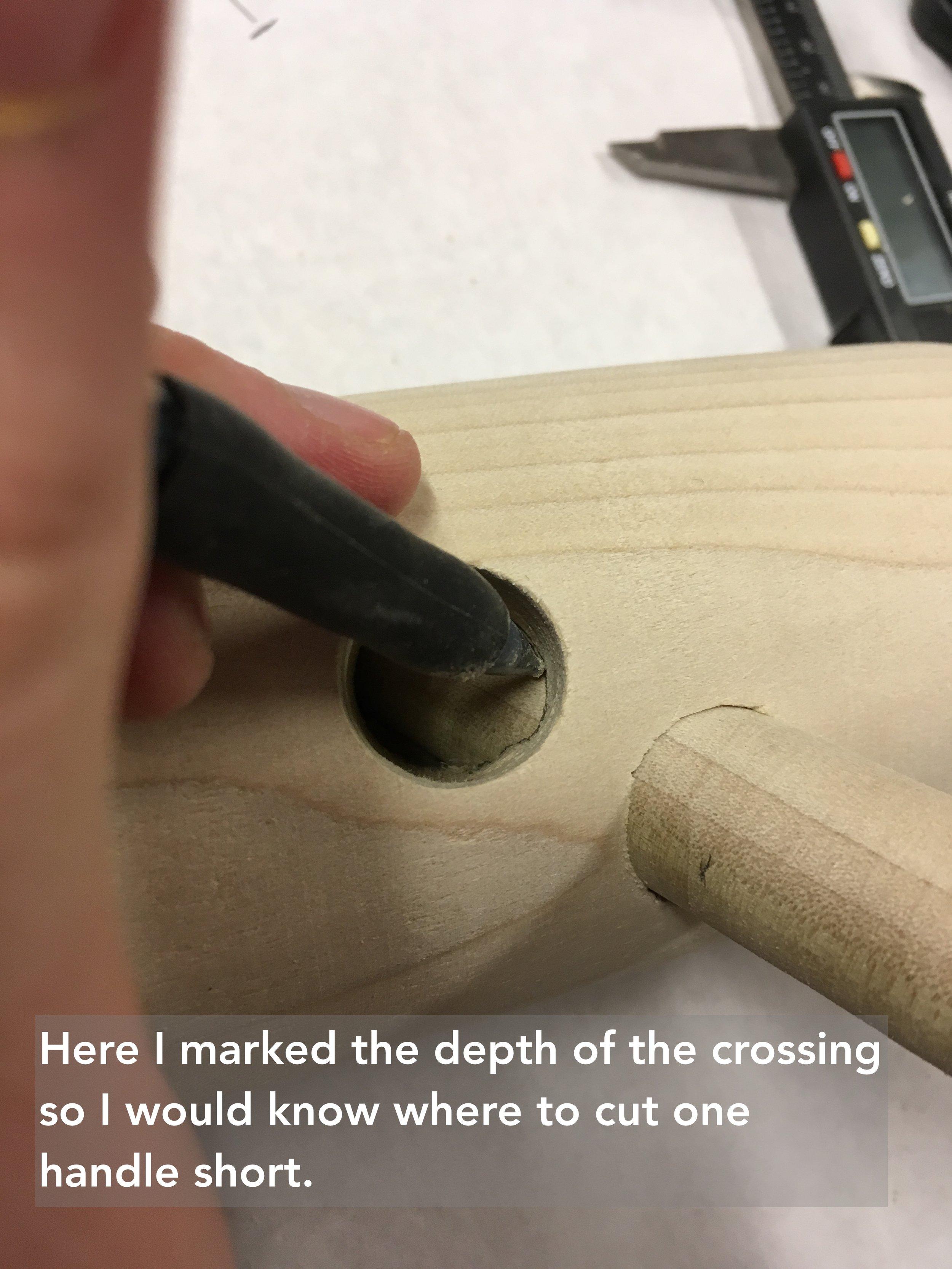 21 marking the hole depth.JPG