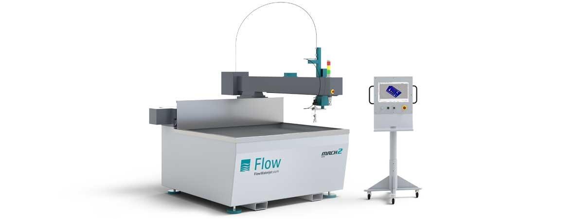 The Flow Mach 2 Waterjet cutter.