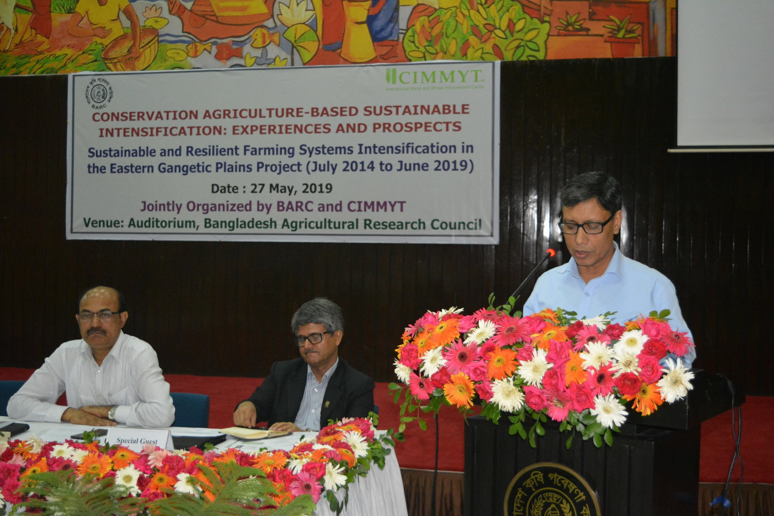 Secretary for the Ministry of Agriculture, Md. Nasiruzzaman, expressed his satisfaction with the progress of SRFSI to date, highlighting the importance of the project addressing the burning issues of labor, water and climate change while contributing to Bangladesh's food security goals.