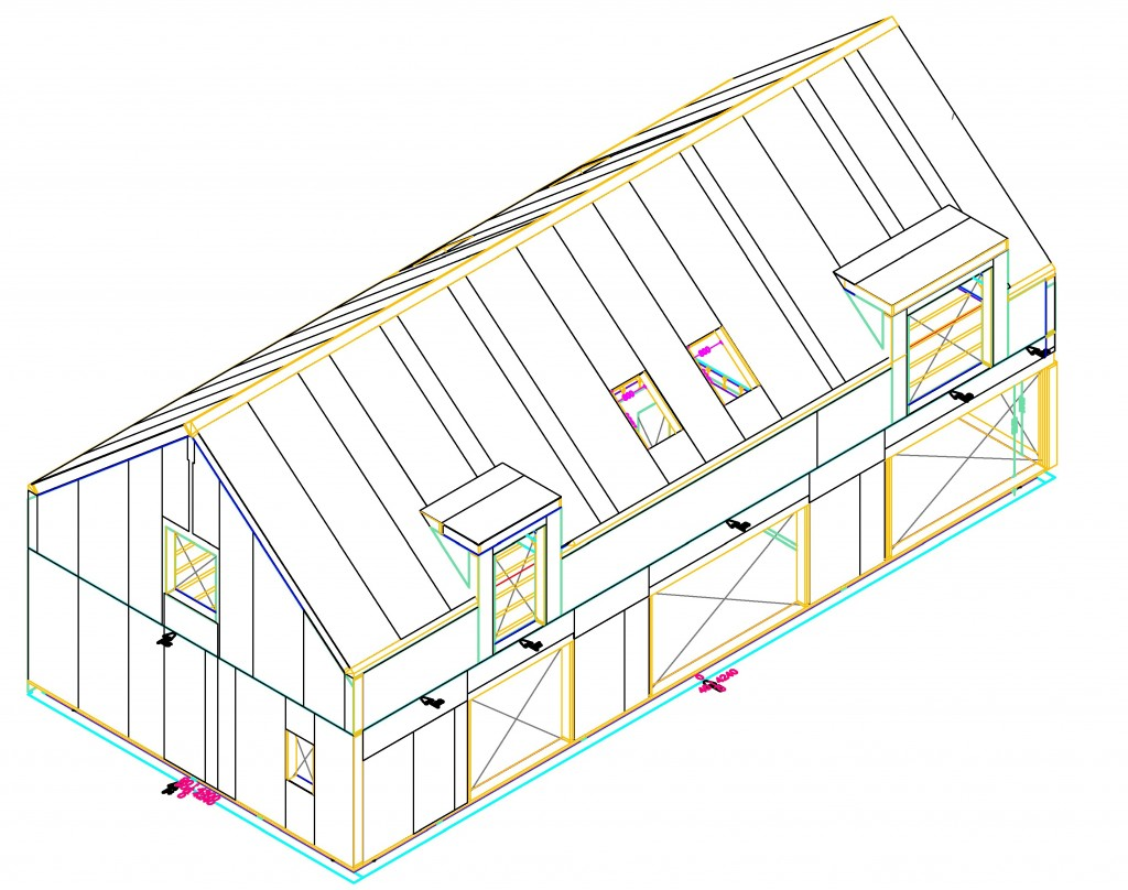 Sip Panels fabrication drawing