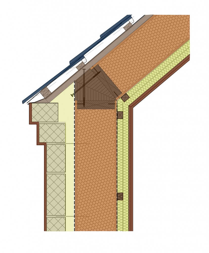 Detail section eaves