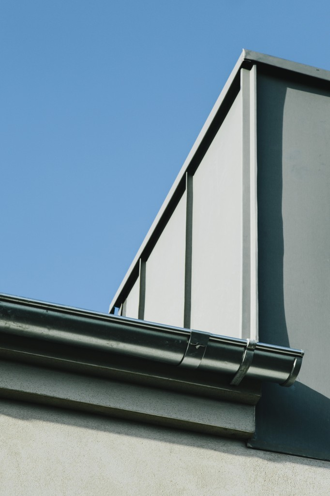 Detail zinc cladding - illustrates the finished roof and zinc clad dormer windows.