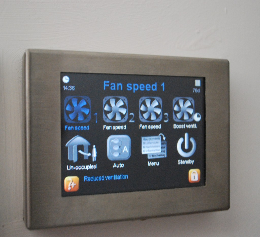 Control Panel for MVHR