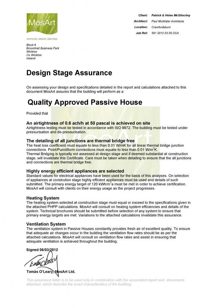 Certification approval