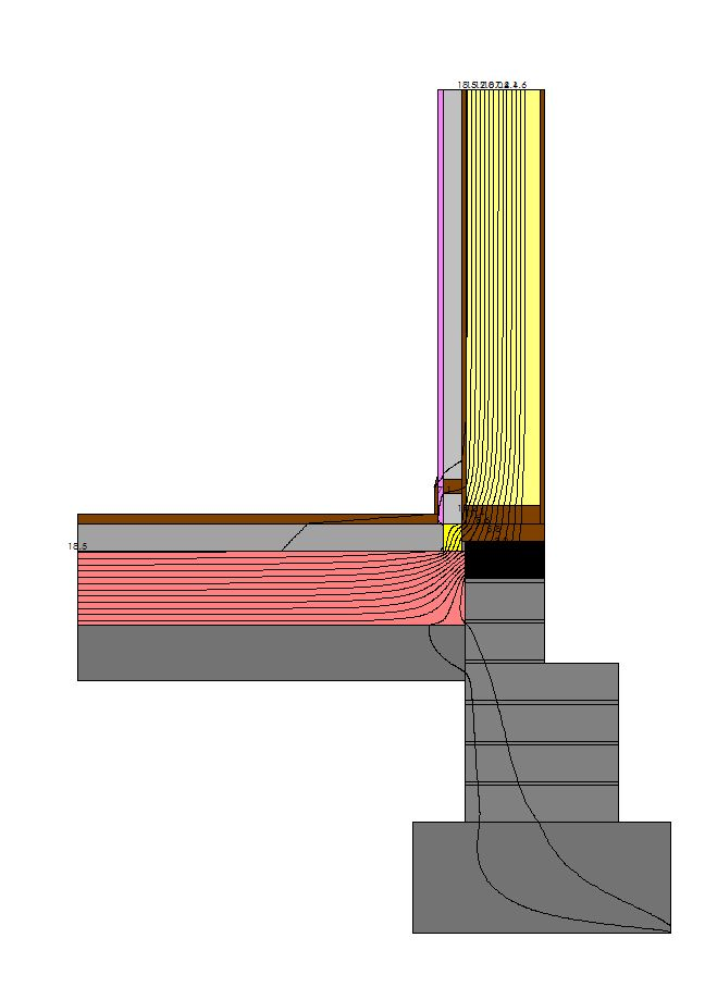 Image above illustrates a thermal bridge for floor junction