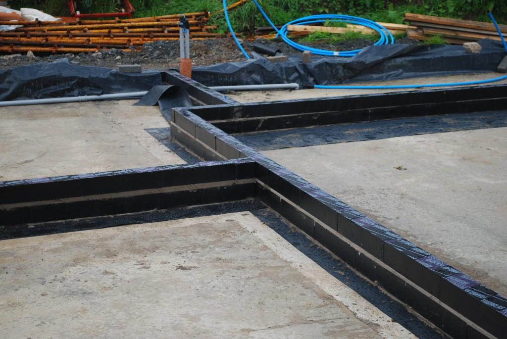 Foamglas thermal blocks