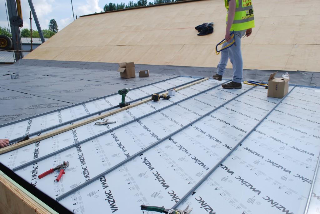 Crest Centre Zinc roof finish