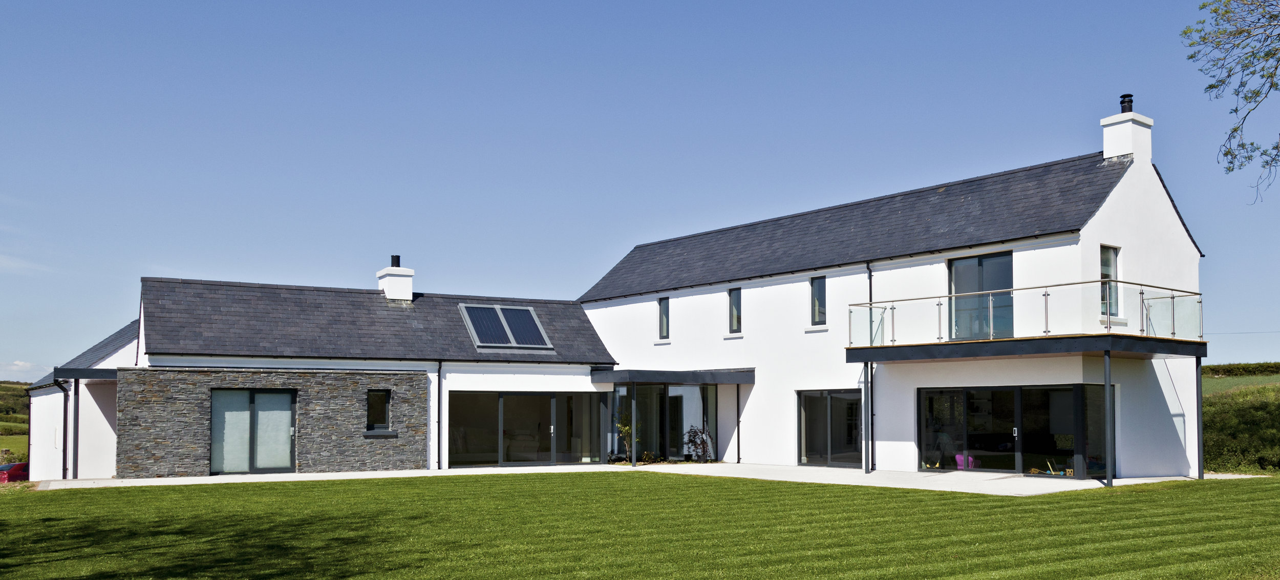 Paul McAlister Architects Drumlin House low carbon home designed to Passive House principles