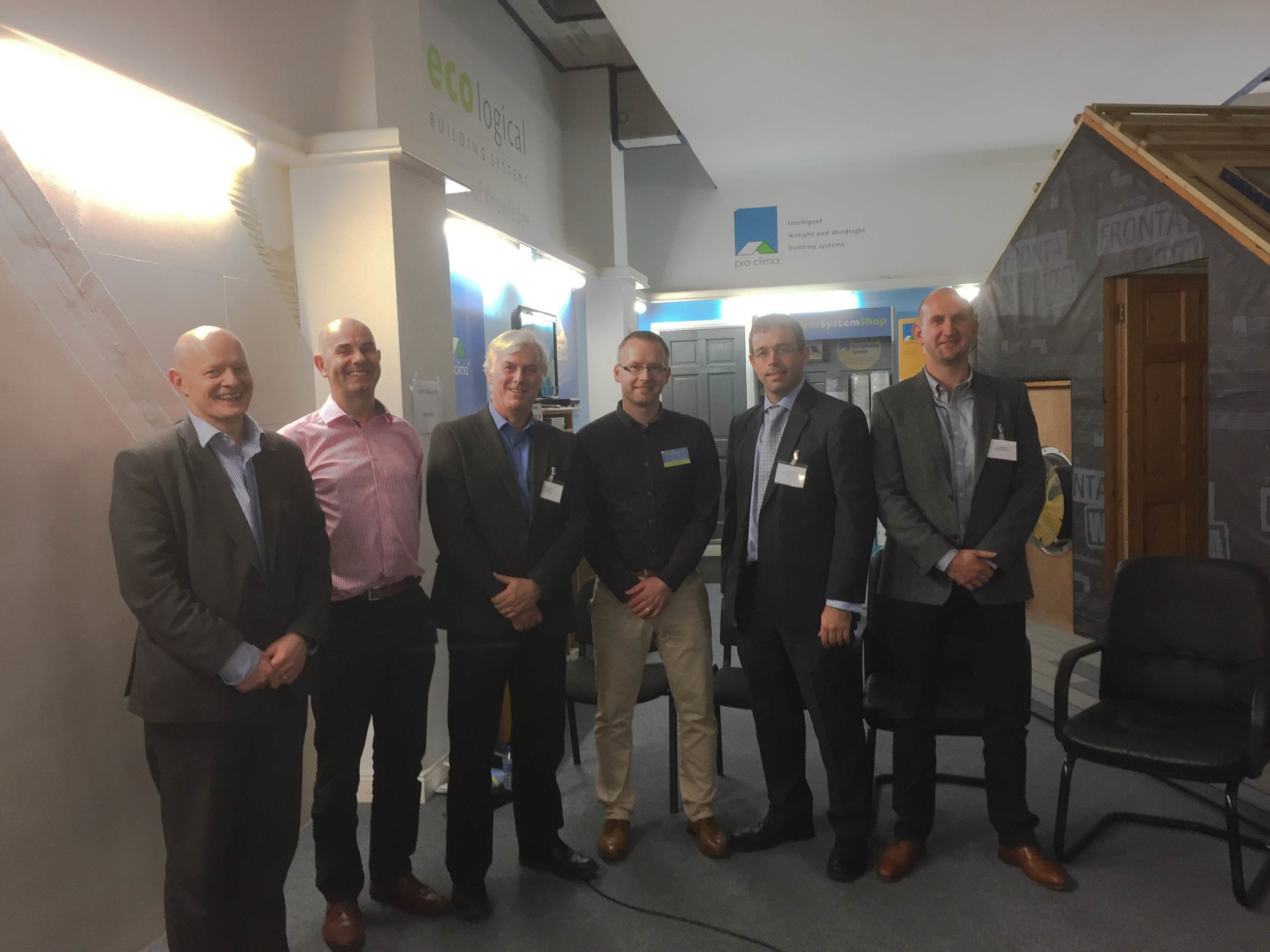 Paul McAllister - Passive House Architect,  Michael Hanratty  (Managing Director at IHER Energy Services),   Maurice Falvey , (Nilan) Niall McCrossan ( Ecological Building Systems )  Gary O'Sullivan , (The National Standards Authority of Ireland) and  Emmet Nee , (Passive house Contractor)