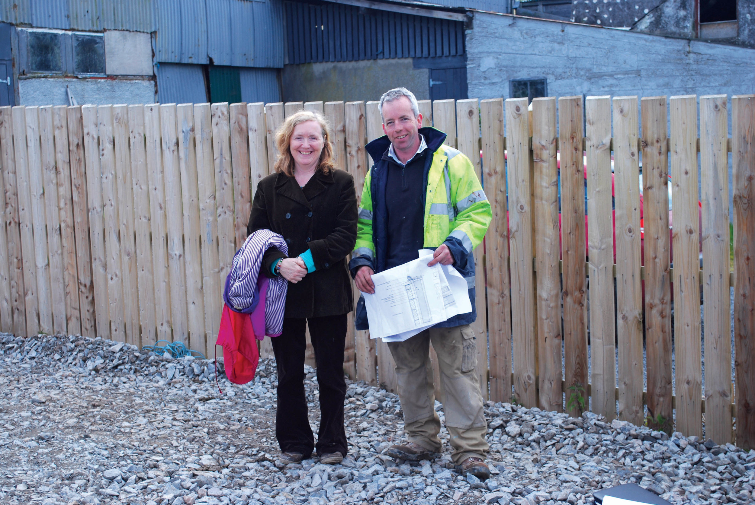 Helen, our client and Kevin, the contractor