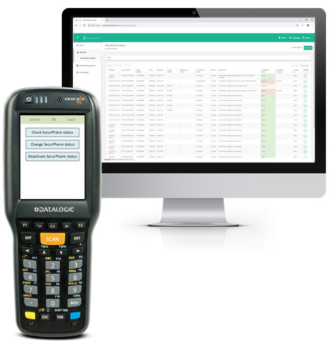 We provide you with scanners! (e.g.    Datalogic   )