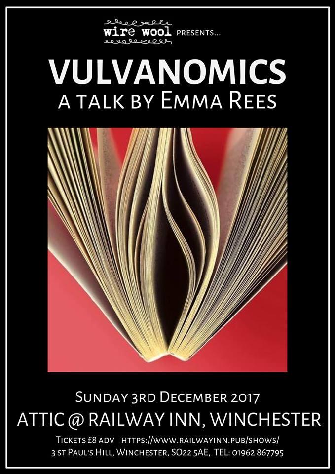 Vulvanomics: a talk by Emma Rees Sunday, December 3, 2017