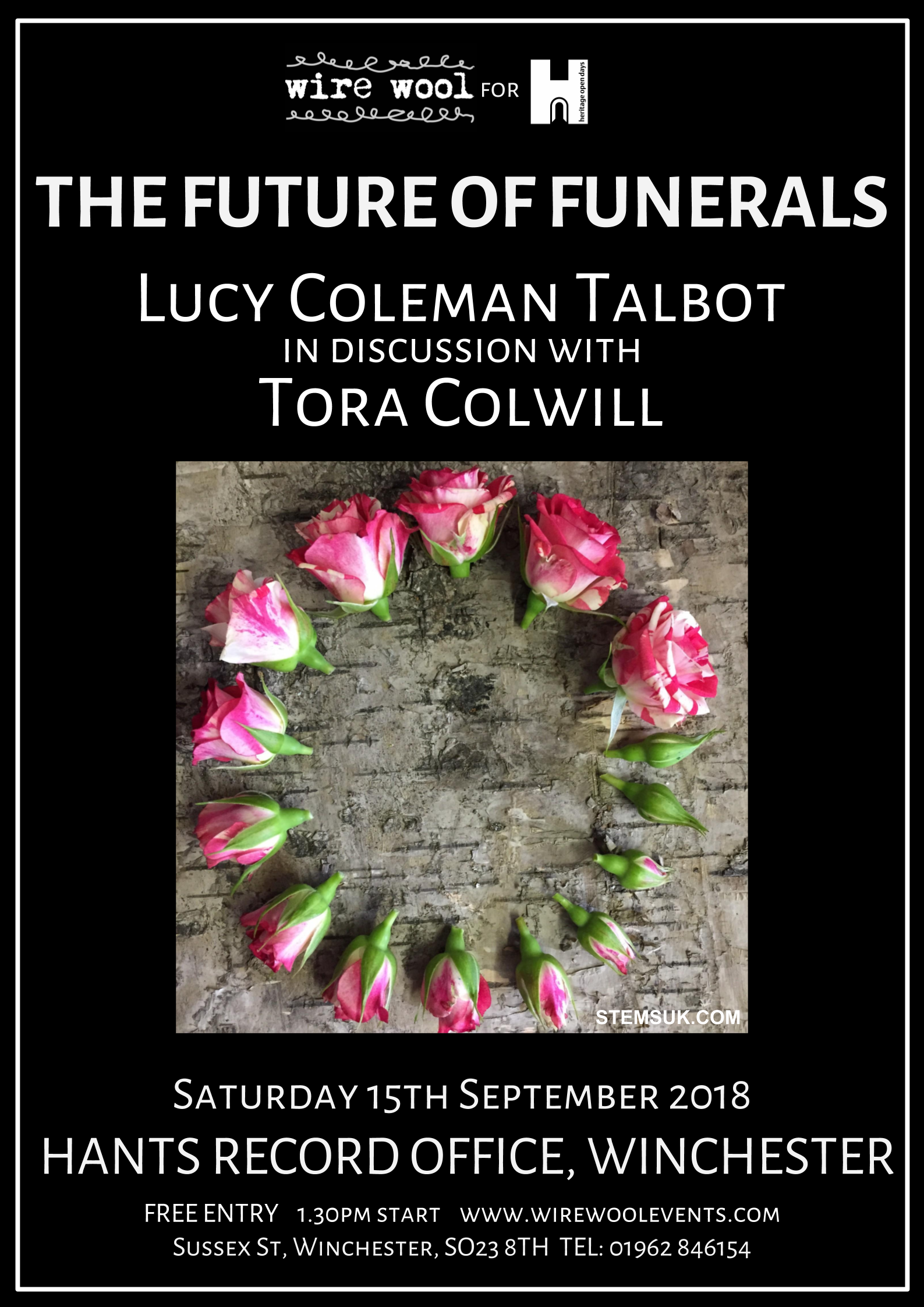 Future Of Funerals: Lucy Coleman-Talbot and Tora Colwill  Saturday, September 15, 2018 1:30pm Hampshire Record Office