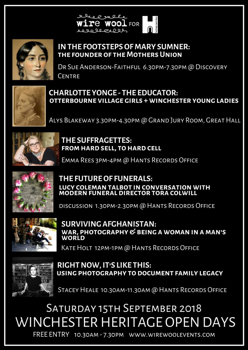 Winchester Heritage Open Days: Extraordinary Women Saturday 15 September 2018