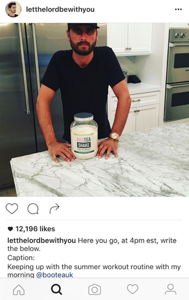 If you're an influencer like Scott Disick, proof-reading is key.