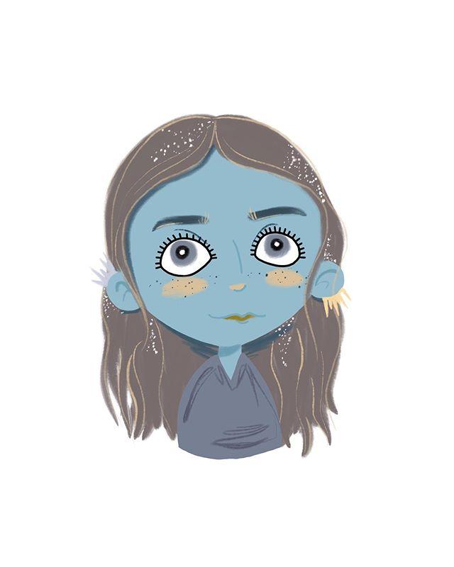 Moon Girl #faces #drawing #procreate #digitalart
