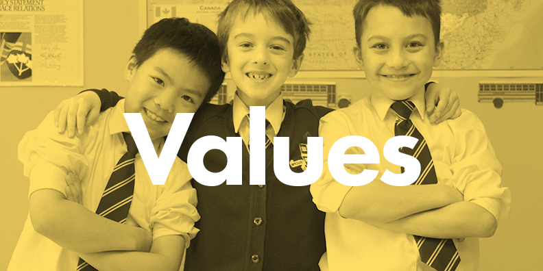 Values of Woodstock Trinity School, a Private Independent Elementary School in Innerkip Ontario Canada.