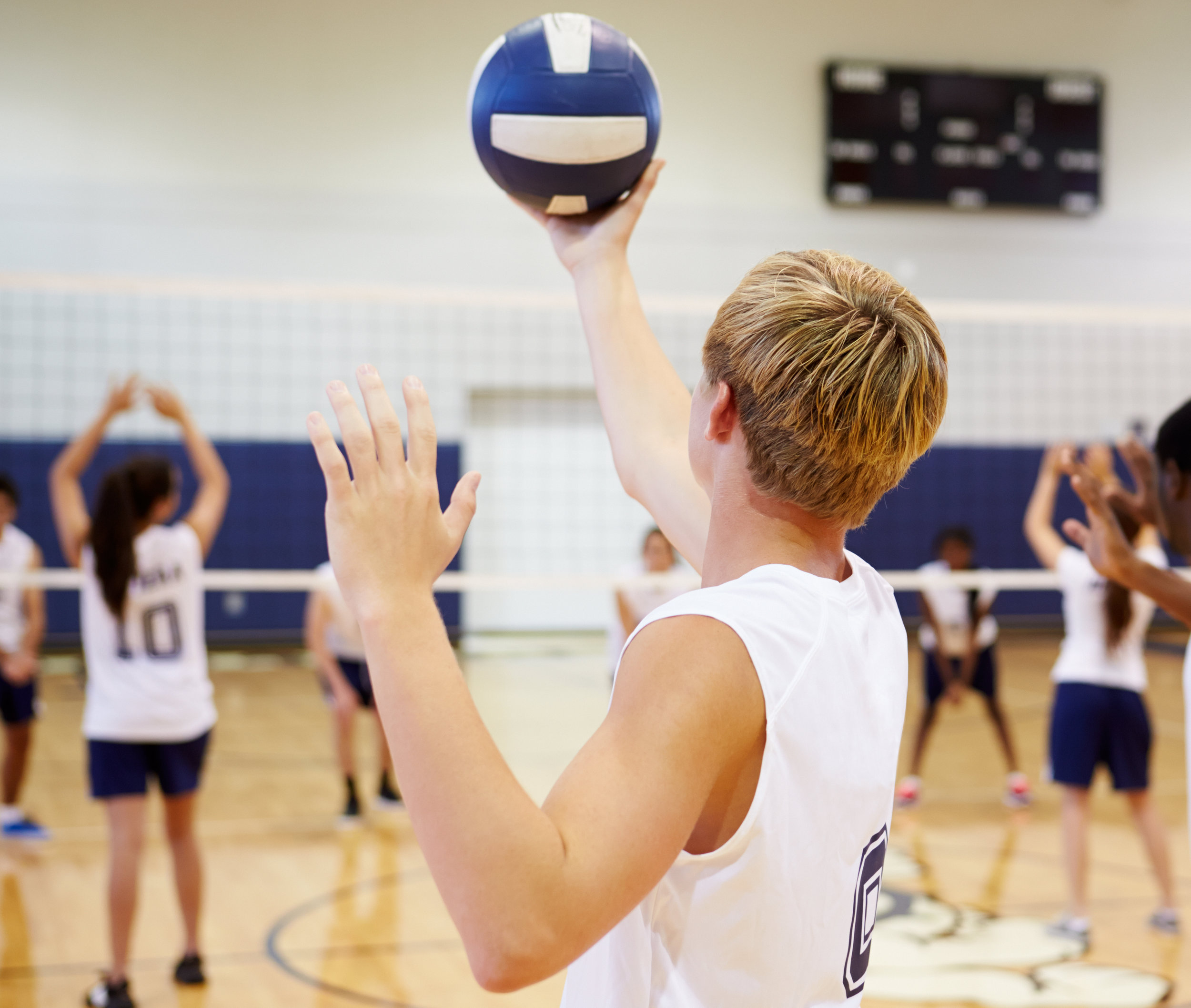 Volleyball at Woodstock Trinity School, a Private Independent Elementary School in Innerkip Ontario Canada.