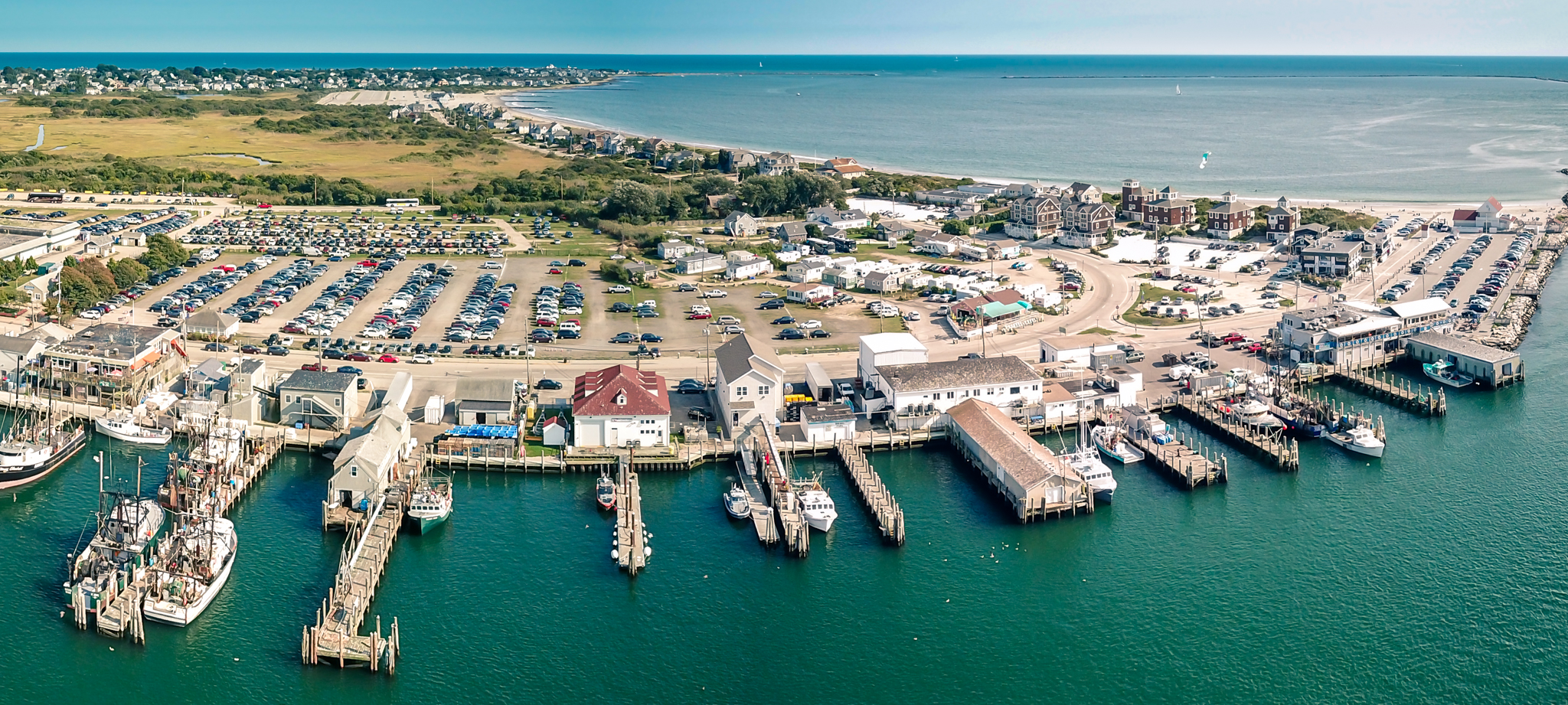 The port of Galilee in Narragansett, Rhode Island.