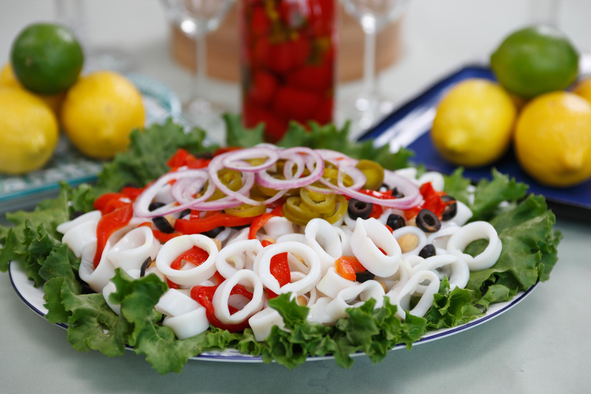 Rhode Island Calamari Salad
