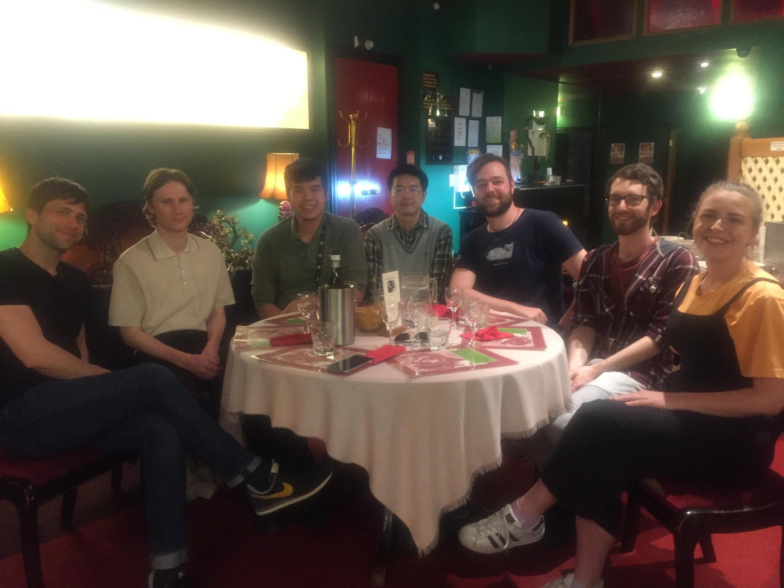 (Starting far Left: Justin Rotolo, Caillan McCrostie, Kyle Phan, Tom Zhang, Joshua Tong, Andrew Peek, Courtney Gilbert)