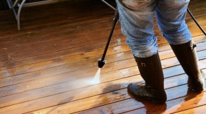 Power washing requires expert use of the equipment.