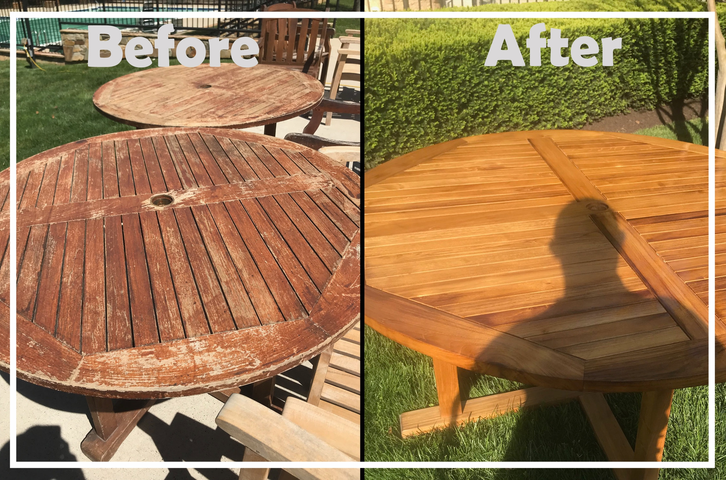 Even a table can take on a whole new look with professional care.