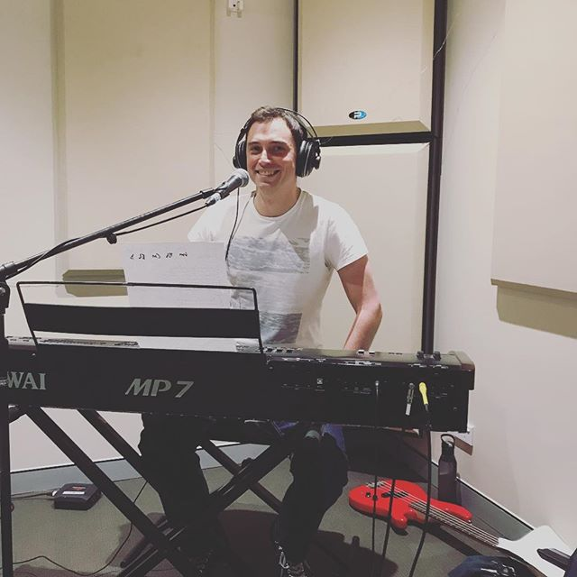 First recording session #amongstrangersmusic #recording