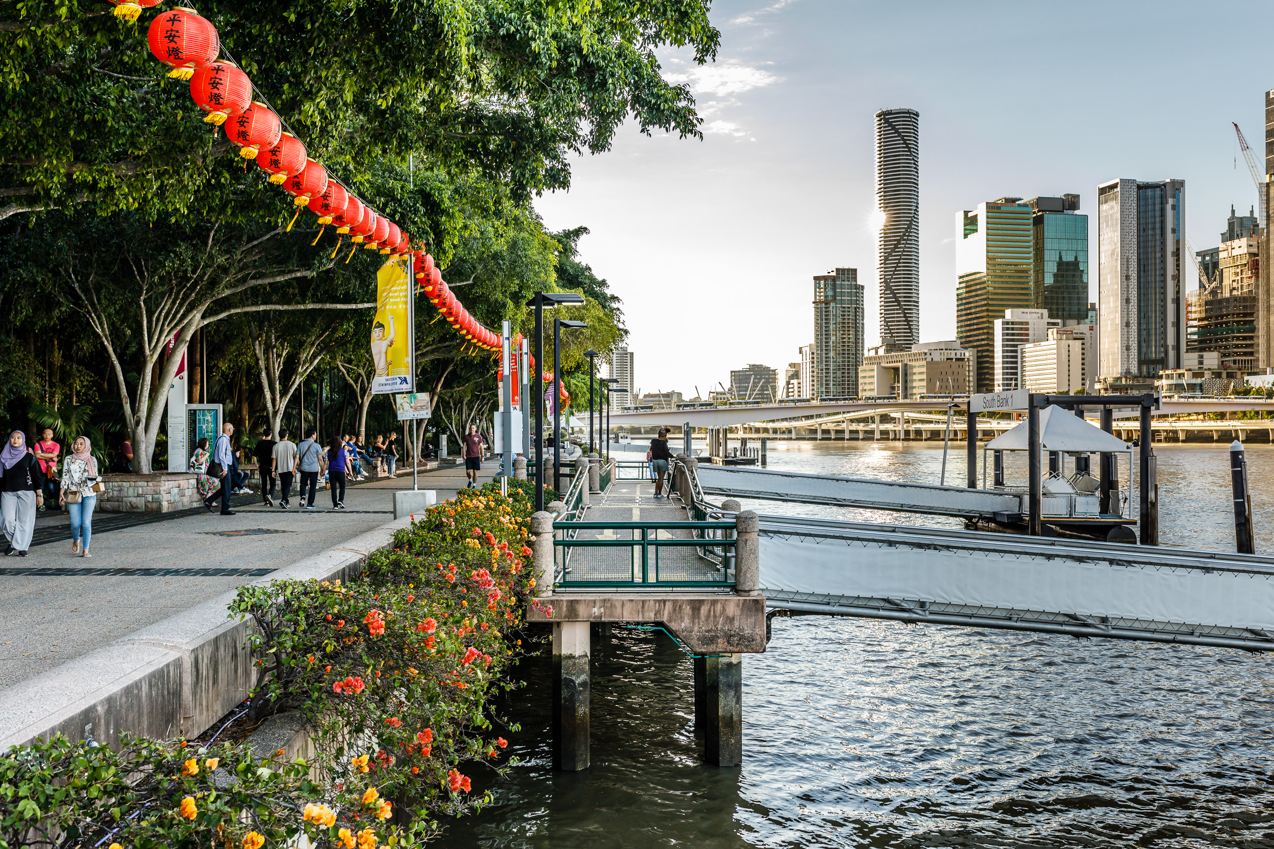 Catch a Ferry to Southbank Parklands (1.5km)