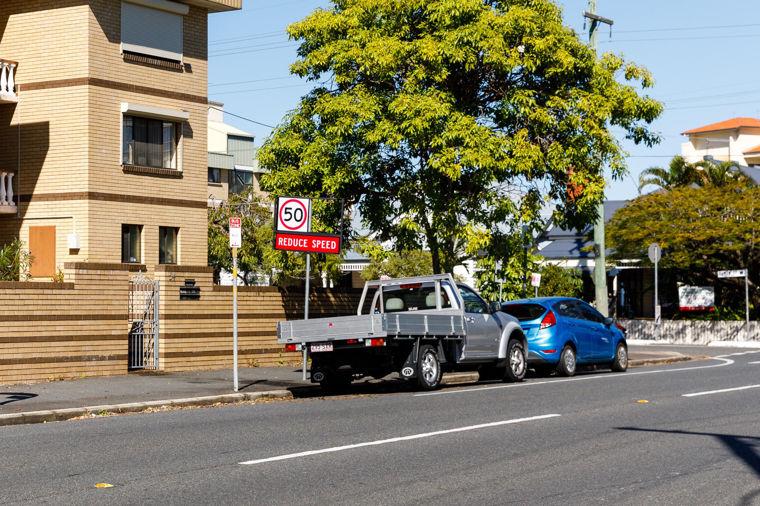 BTA Street Parking - BTA is on the right hand side