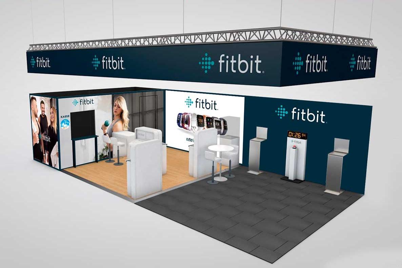 fitbit-Stand auf der FIBO 2019 in Köln